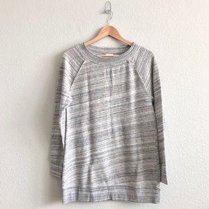 Caslon Gray Space Dye Tunic Sweatshirt - Sz M